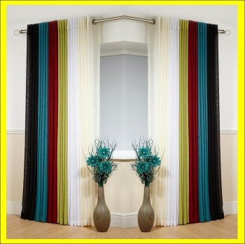 Eyelet Textured Voile Curtain Panel