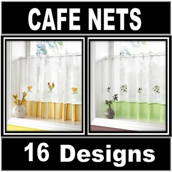 Voile Cafe Net Panels