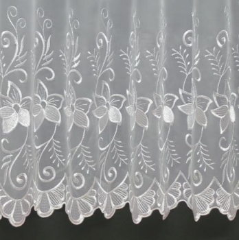 MOLLIE WHITE MADE TO MEASURE PURE VOILE CURTAINS