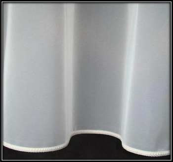 Cream Plain Lead Weight Curtain