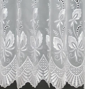 SIMONE WHITE MADE TO MEASURE PURE VOILE CURTAINS