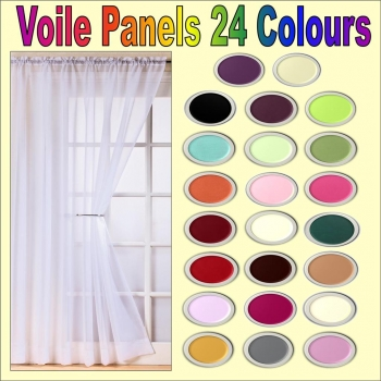 Plain Slot Top Voile Panels