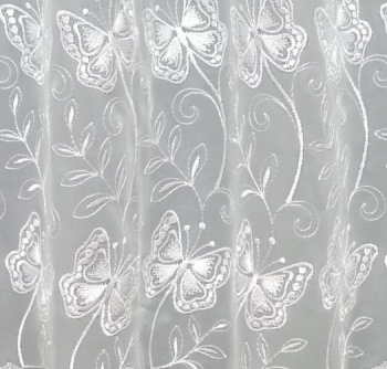 MADE TO MEASURE - YARA BUTTERFLY WHITE MADE TO MEASURE PURE VOILE ...