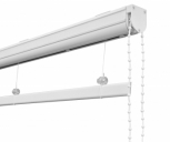 Cassette Roman Blind  Kits - White Chain