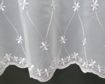 DAISY WHITE MADE TO MEASURE PURE VOILE CURTAINS