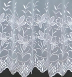 OLIVIA WHITE MADE TO MEASURE PURE VOILE CURTAINS